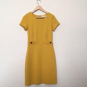 Boden Cordelia Ottoman Dress Saffron Yellow 4R